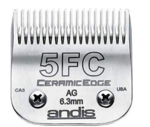 Andis 64370 CeramicEdge Size 5FC Detachable Pet Clipper Trimmer Shaver Razor Replacement Blade for model AG AGP AGCL AGRC MBG