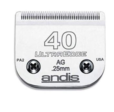 Andis 64076 UltraEdge Size 40 Pet Clipper Blade for Andis AG AGCL AGRC MBG