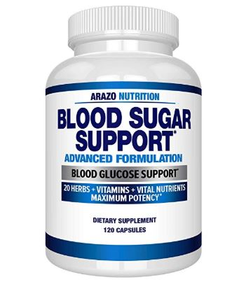 Arazo Nutrition Blood Sugar Support Control Multivitamin 120 Capsules
