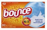Bounce Fabric Softener Dryer Sheets Fresh Linen 3 x 80 count
