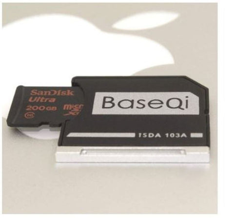 "Baseqi Aluminum MicroSD Adapter for MacBook Air 13"" Inch & Macbook Pro 13"" 15"" Inch Non-Retina"
