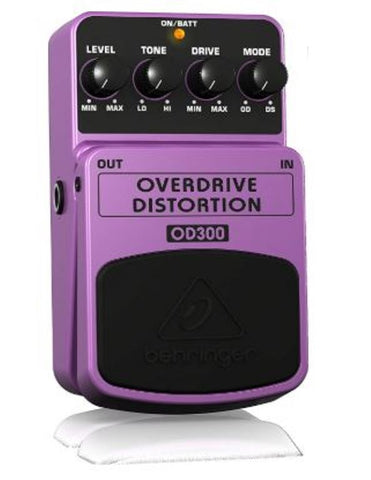 Behringer OD300 2-Mode Overdrive Distortion Instrument Effects Pedal