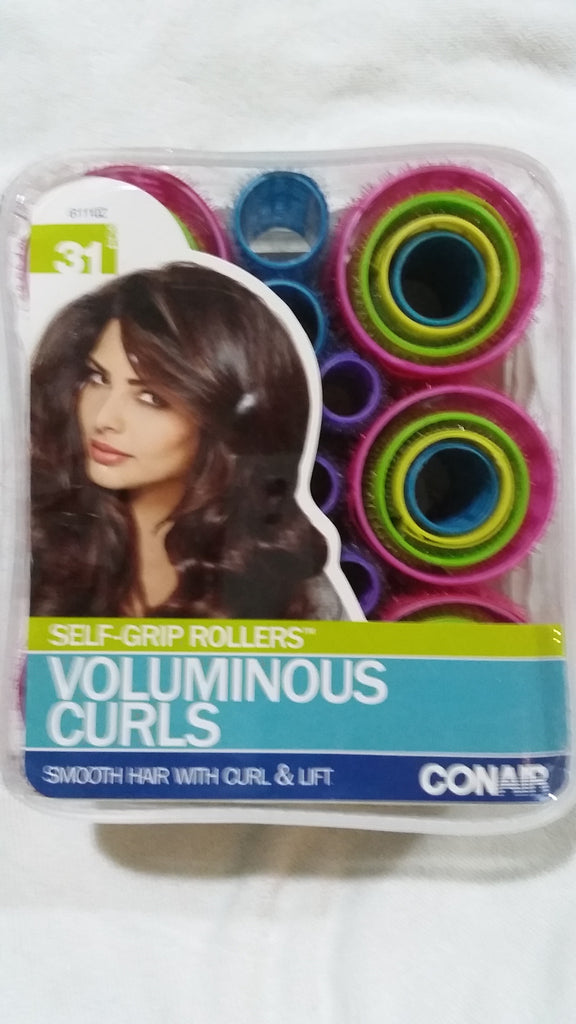 Conair Self-Grip Hair Rollers, Assorted Color 31 Pieces