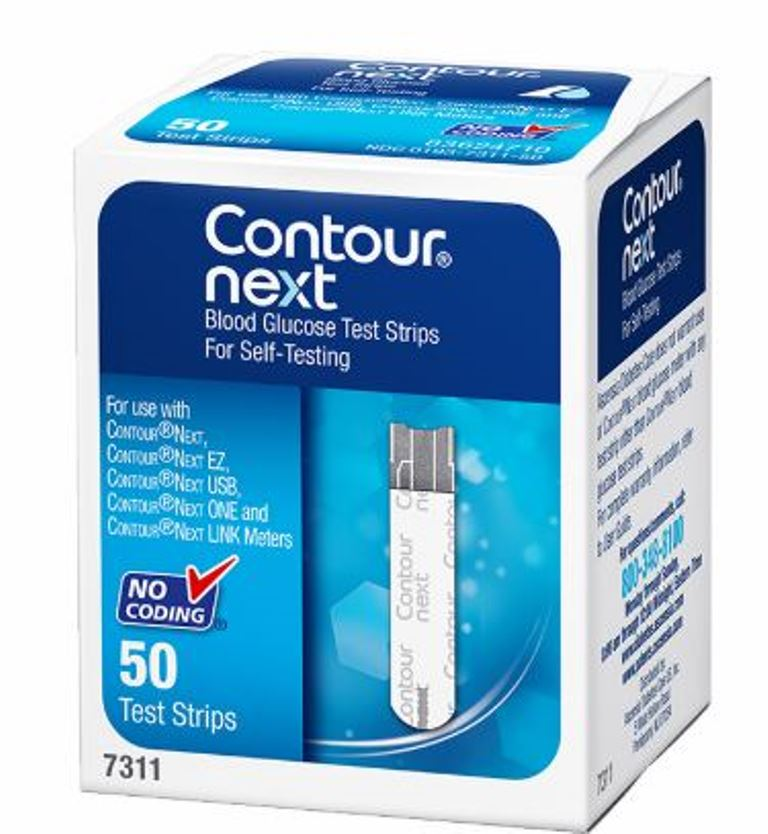 Contour Next Blood Glucose Test Strips - 50ct