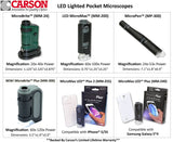 Carson 60X-120X MicroBrite Plus LED Pocket Microscope MM-300