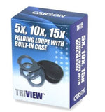 Carson TriView TV-15 5x 10x 15x Power Magnification Folding Loupes