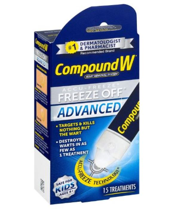 Compound W Accu-Freeze Freeze Off Advanced Warts Remover Removal 15 Treatments
