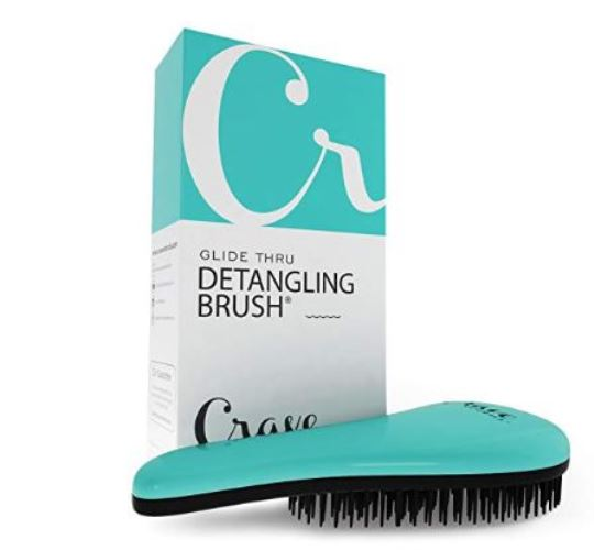 Crave Naturals Glide Thru Tangle Detangling Hair Brush Comb for Adults Kids