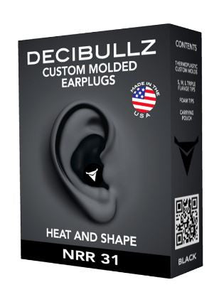 Decibullz Custom Molded Earplugs 31dB NRR Hearing Protection Ear Plug