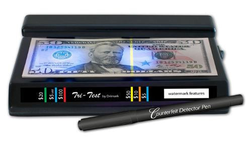 Drimark UV Counterfeit Dollar Money Peso Currency Detector
