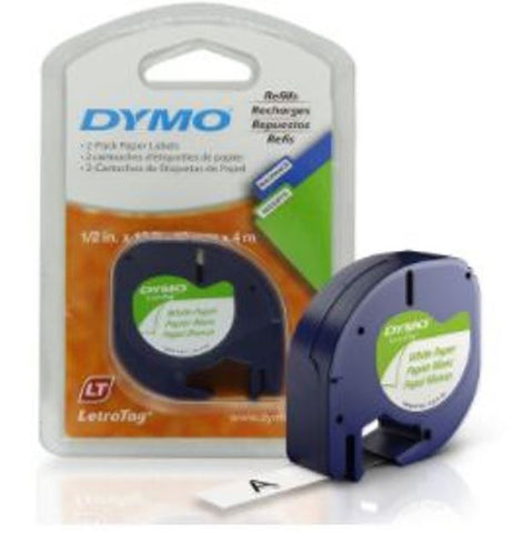 DYMO 10697 Labeling Tape for LetraTag QX50 Label Makers 2 Rolls