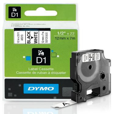 Dymo D1 45013 Labeling White 0.5 Inch Tape Cartridge LabelManager 160