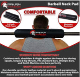 Dark Iron Fitness 17 Inch Barbell Neck Pad for WeightLifting Powerlifting Crossfit