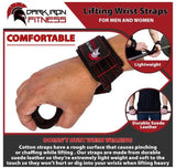 Dark Iron Fitness Weightlifting Leather Suede Lifting Wrist Straps Wraps Weight