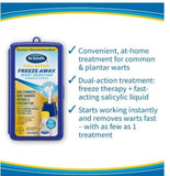 Dr. Scholl's Dual Action 7 Treatments Freeze Away Plantar Common Warts Remover Removal Kit