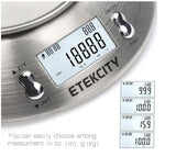 Etekcity 5kg Digital Food Kitchen Bowl Temperature Timer Weighing Scale