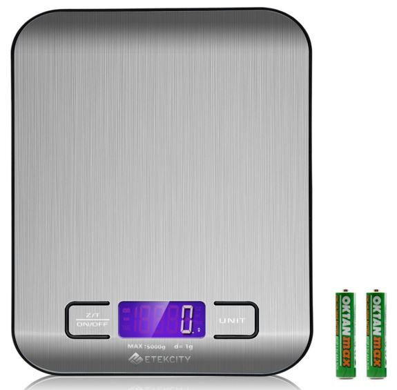 Etekcity 11lb/5kg Digital Stainless Kitchen Food Weighing Scale