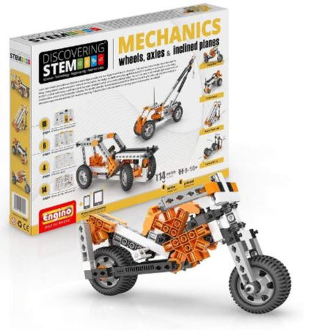 Engino Discovering Stem Mechanics Wheels Axles Inclined Planes Construction Kit