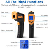 Etekcity 749 Digital Lasergrip No Touch Non Contact IR Infrared Gun Thermometer Reading Temperature