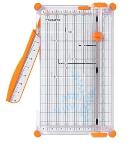 Fiskars 152490-1004 12-Inch SureCut Deluxe Craft Paper Trimmer Cutter