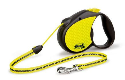 Flexi 16-Feet Large Neon Reflect Retractable Cord Dog Leash Training