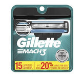 Gillette Mach3 Mach 3 Men's Razor Blade Refills 15 Counts