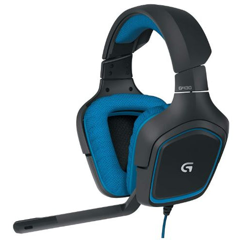 Logitech G430 7.1 DTS X Dolby Surround Sound Gaming Headphone Headset