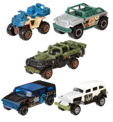 Matchbox Jurassic World 1:64 Vehicle 5-Pack Toy Cars