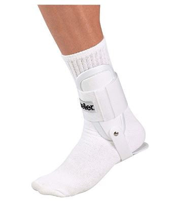 Mueller USA Lite Ankle Support Hinged Brace One Size Piece White