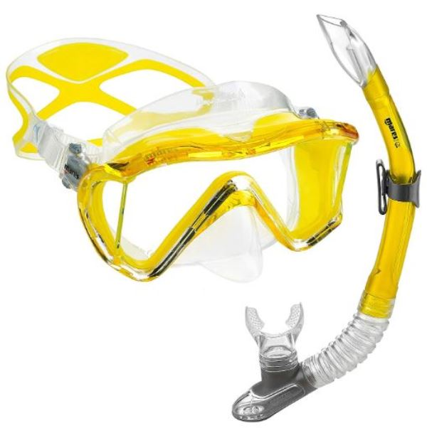 Mares Goggles Scuba Diving Snorkeling Swimming Surfing Freediving Snorkel Set