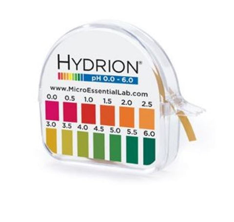 Hydrion Brilliant 15-FT 0 - 6 pH Range Acid Test Litmus Paper Dispenser