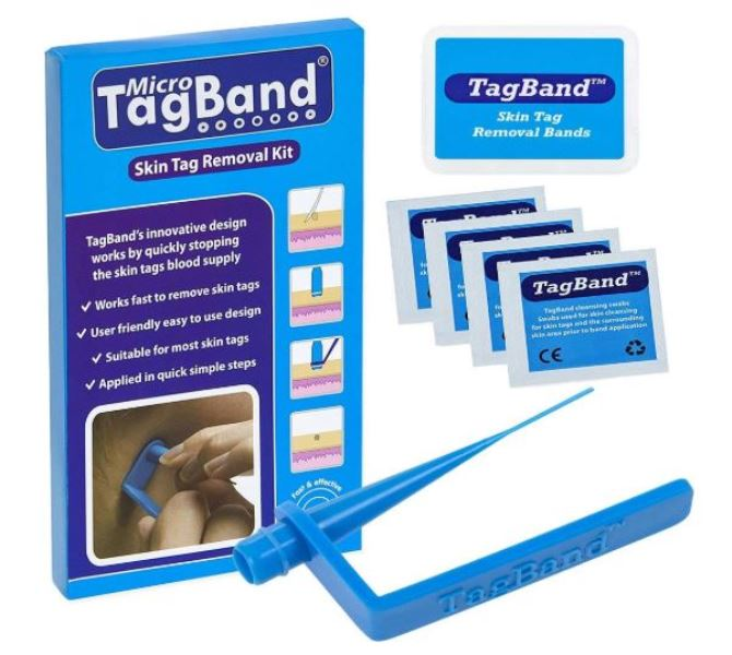 Micro TagBand Skin Tag Removal Remover Kit for Small to Medium Skin Tags