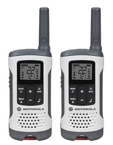 Motorola T260 25-Mile Rechargeable Two 2 Way Radios Walkie Talkie