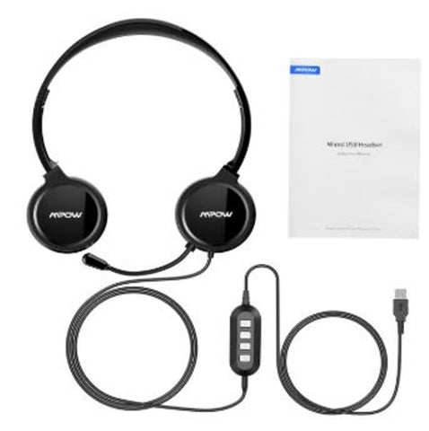 Mpow MPPA071AB 071 USB Computer Headset with Microphone
