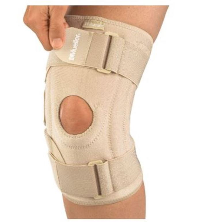 Mueller USA Open Patella Adjustable Knee Stabilizer Brace Support Beige