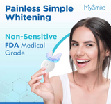MySmile Deluxe LED Light Teeth Whitening Whitener Kit with 3-PC Gel Pen