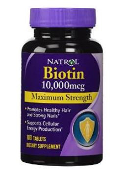 Natrol Biotin 10,000mcg Maximum Strength 100 capsules