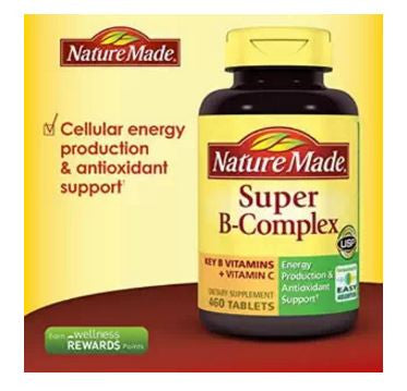 460 Tablets Nature Made Super B Complex For Anemia