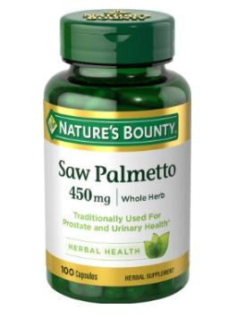 Nature's Bounty Natural Saw Palmetto For Hair Loss 450mg, 100 Caps