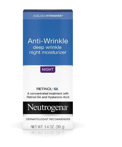 Neutrogena Ageless Intensives Anti-Wrinkle Face Facial Moisturizer Night Cream 1.4 Oz 39 G