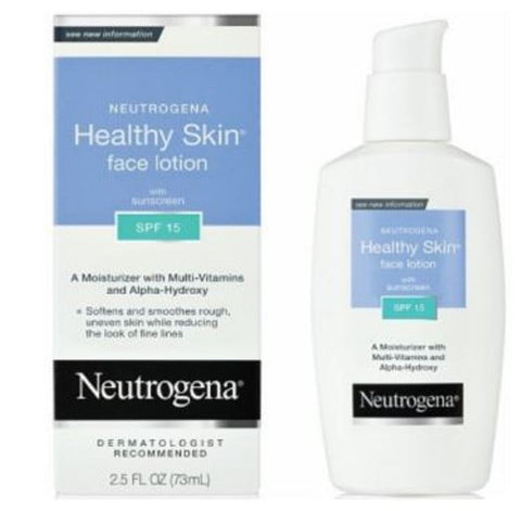 Neutrogena Healthy Skin Face Moisturizer Cream Lotion SPF 15 2.5 Fl Oz 73 ML