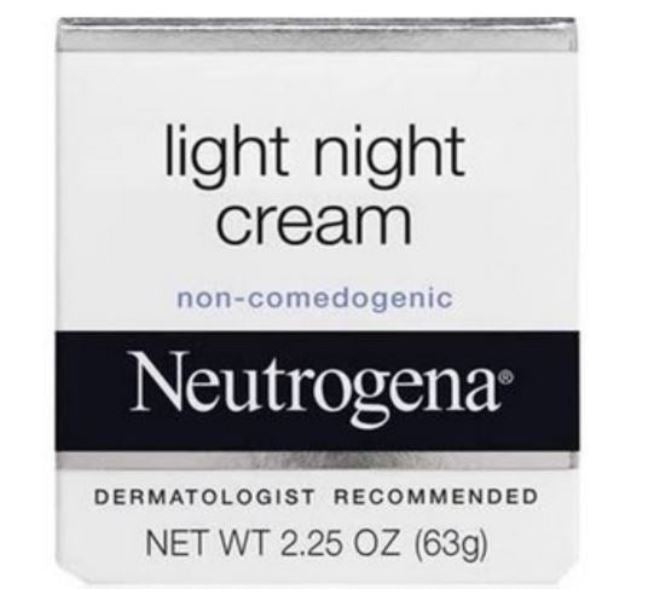 Neutrogena Light Night Facial Moisturizer Cream 2.25 Oz 63 G