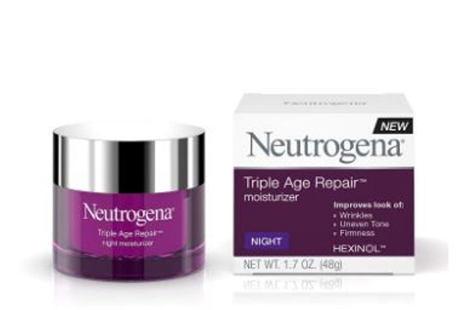 Neutrogena Triple Age Repair Anti-Aging Face Mosturizer Night Cream 1.7 Oz 48 Gram
