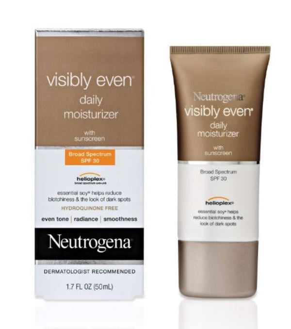 Neutrogena Visibly Even Face Moisturizer Day Cream SPF 30 1.7 Oz 50 ML