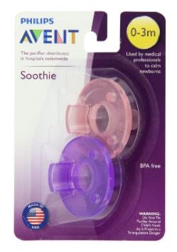 Philips Avent Soothie Pacifier, Pink/Purple, 0-3 Months, 2 Pcs