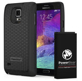 PowerBear 7500mAh Extended Battery Samsung Galaxy Note 4 Black