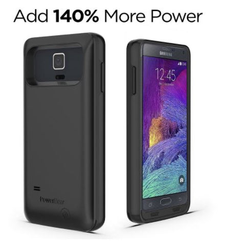 new style 47ade 9ce25 PowerBear Note 4 4500mAh Extended Battery Case Samsung Galaxy