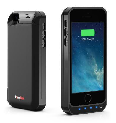 PowerBear iPhone 5SE 5S 5C 5 4000mAh Extended Battery Case Black