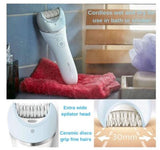 Philips BRE610/00 Satinelle Wet Dry Cordless Epilator Bikini Line Face Body Legs Hair Remover Removal Shaver Trimmer Razor