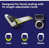 Philips Norelco QP6520/70 OneBlade Pro Rechargeable Cordless Electric Hair Clipper Trimmer Shaver Razor Groomer Grooming Kit 220V Dual Auto Voltage